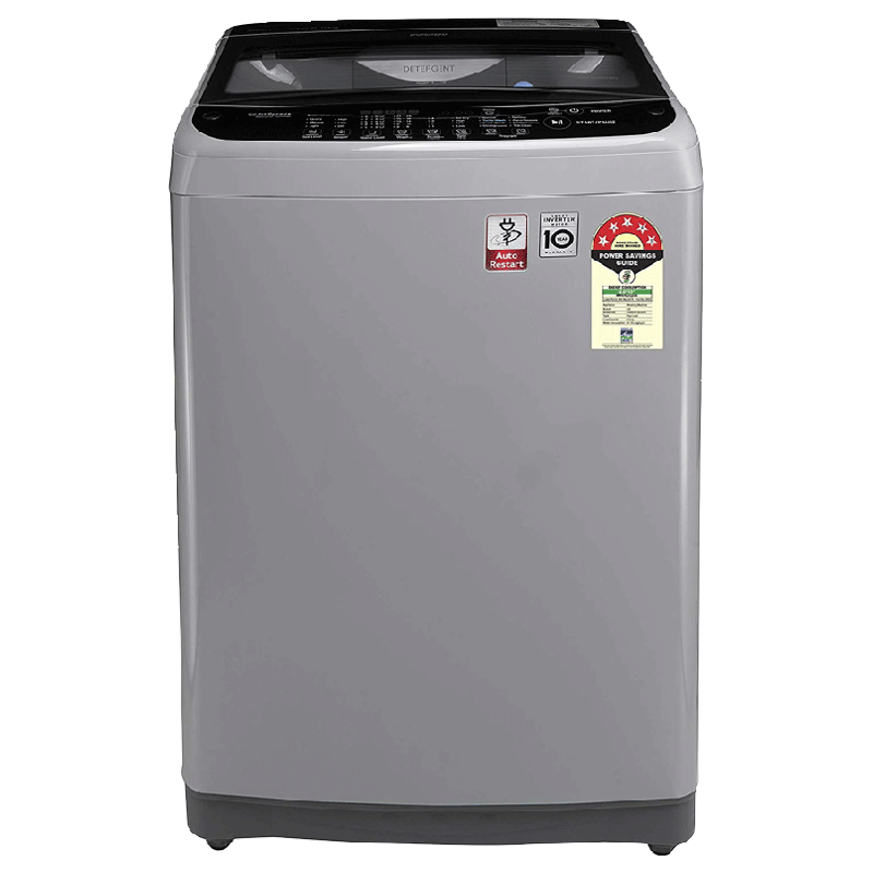 LG 6.5 Kg 5 Star Fully Automatic Top Loading Washing Machine (T65SJSF3Z.ASFQEIL, Middle Free Silver)_1