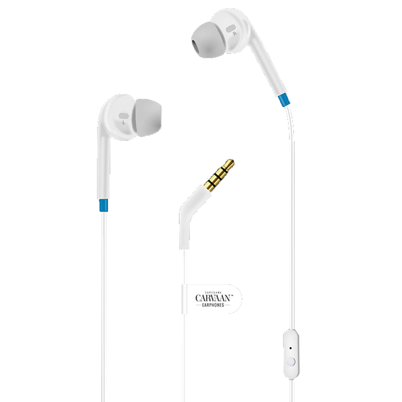 Saregama Carvaan In-Ear Wired Earphones with Mic (EP0002, Classic White)_1
