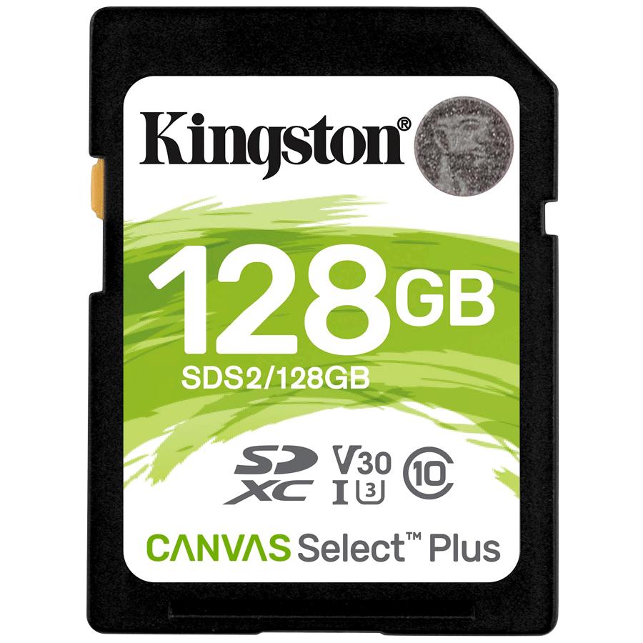 Kingston Canvas Select Plus 128GB Class 10 SDHC Memory Card (SDS2/128GBIN, Black)_1