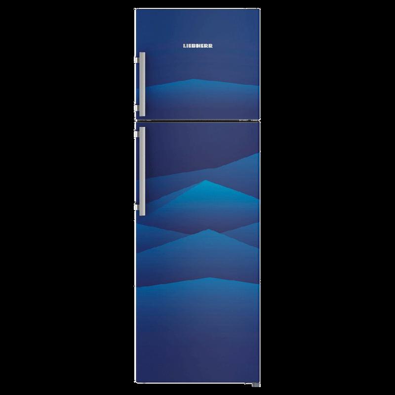 Liebherr 346 Litres 3 Star Frost Free Inverter Double Door Refrigerator (Central Power Cooling, TCb 3520, Blue Landscape)_1
