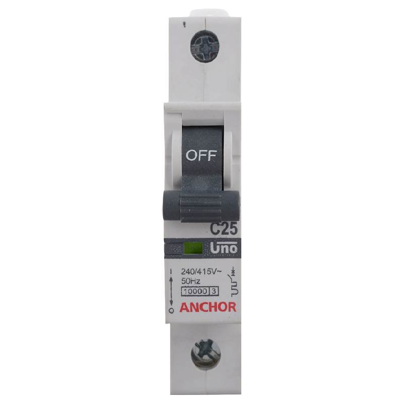 Anchor Uno 32A SP - C Type MCB (98006, White)_1