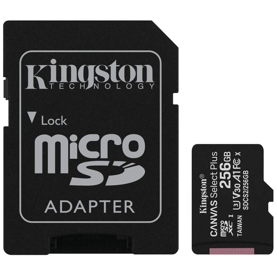 Kingston Canvas Select Plus 256 GB microSD Card with Adapter (SDCS2/256GBIN, Black)_1