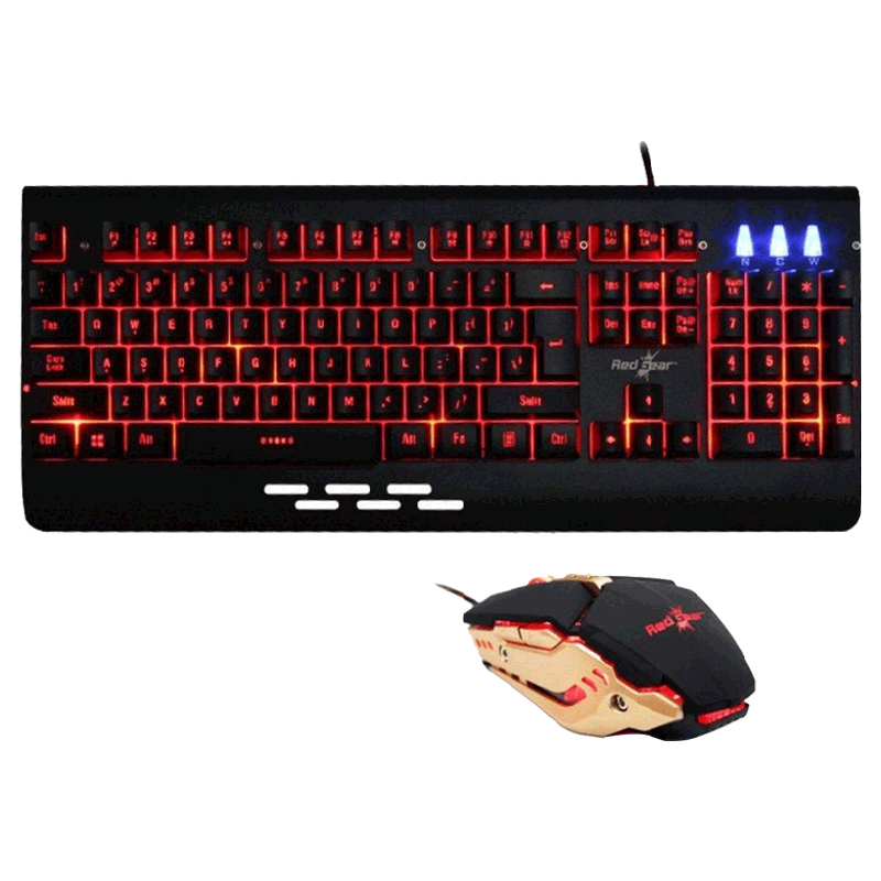 Redgear Manta Gaming Keyboard and Gaming Mouse Combo (MT21, Black)_1