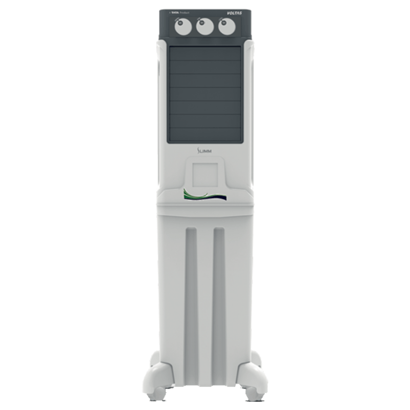 Voltas 45 Litres Tower Air Cooler (Ice Chamber, Slimm 45, White)_1