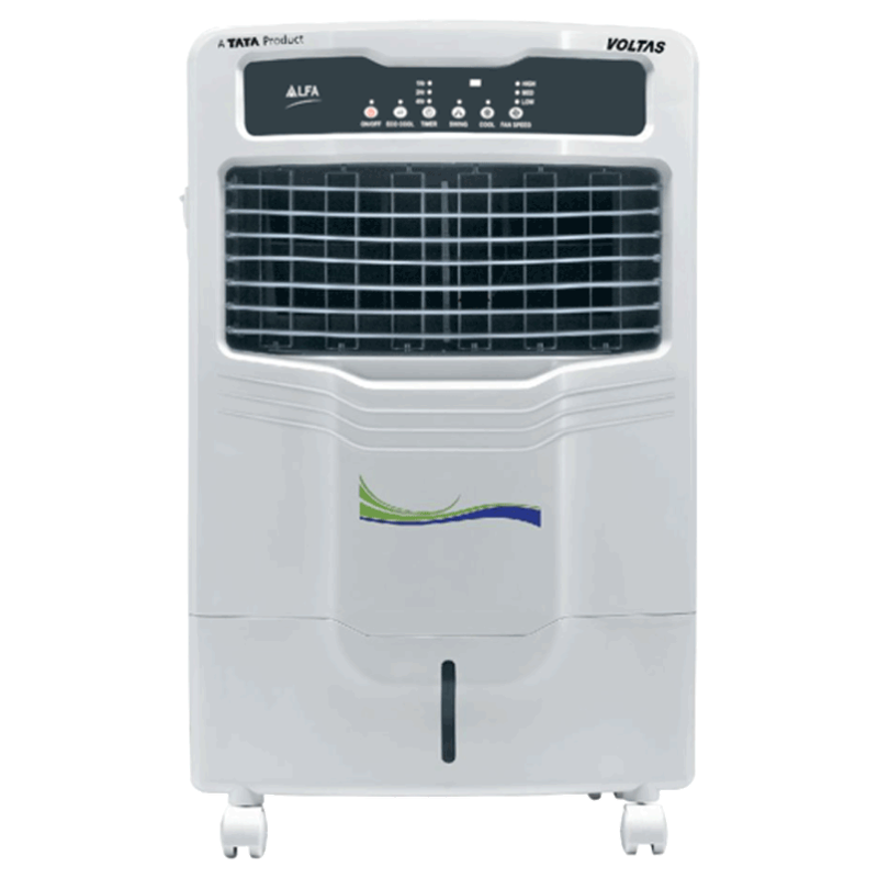 Voltas 28 Litres Personal Air Cooler (Honeycomb Cooling Pads, Alfa 28E, White)_1