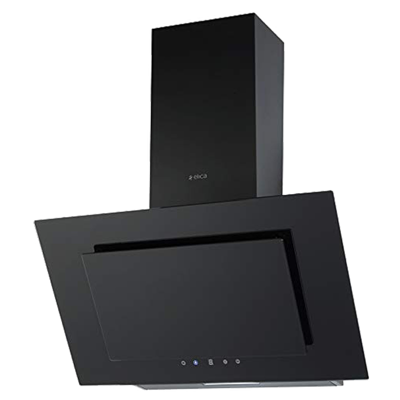 Elica 900 m³/hr 60cm Wall Mount Chimney (Touch Control, Crystal 60 Touch, Black)_1