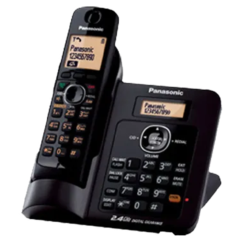 Panasonic Cordless Phone (KX-TG3811, Black)_1