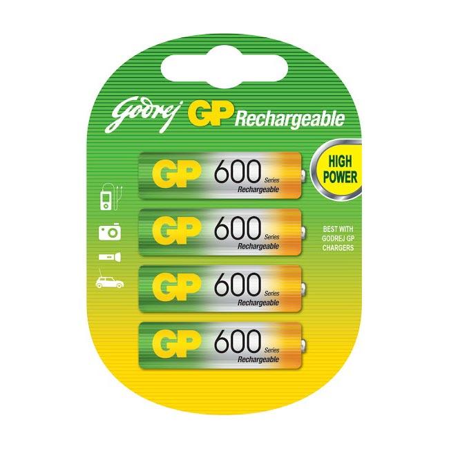 Godrej GP 4xAAA 600 mAh Rechargeable Batteries (4xAA 600mAh Rchg, As Per Stock Availability)_1