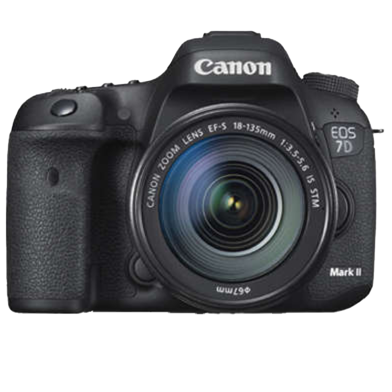 Canon 20.2 MP DSLR Camera Body with 18 - 135 mm Lens (EOS 7D Mark II, Black)_1