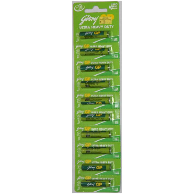 Godrej GP AAA Ultra Heavy Duty Battery (069T2Z33, Green) (Pack of 10)_1
