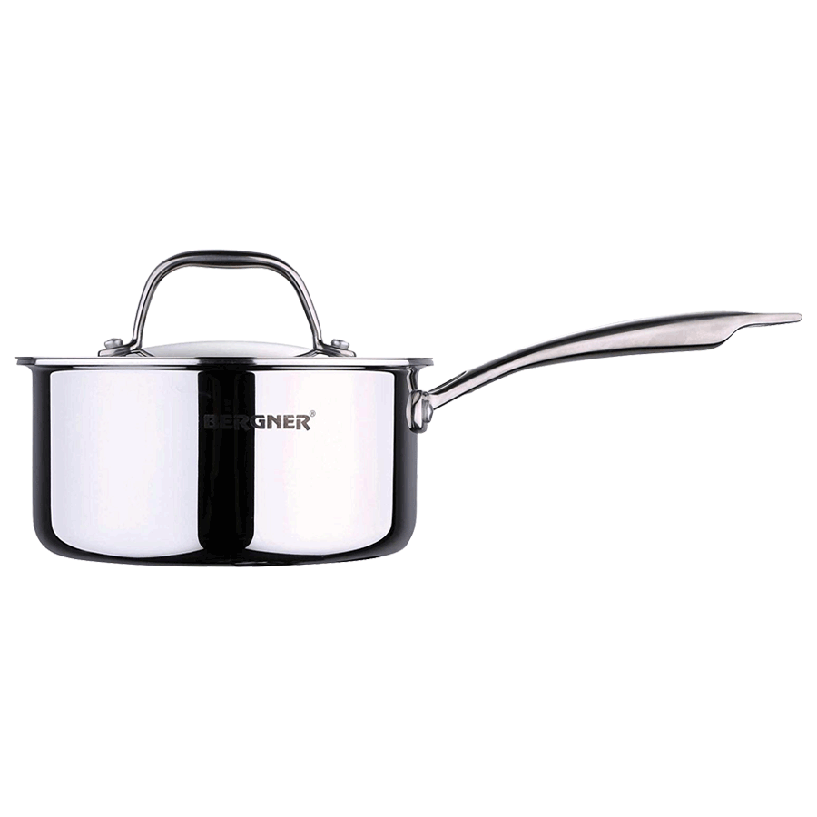 Bergner Argent Triply 1.6 Litres Saucepan with Lid (BG-6327, Silver)_1