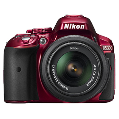 Nikon 24.2 MP DSLR Camera Body with 18 - 55 mm Lens (D5300, Red)_1