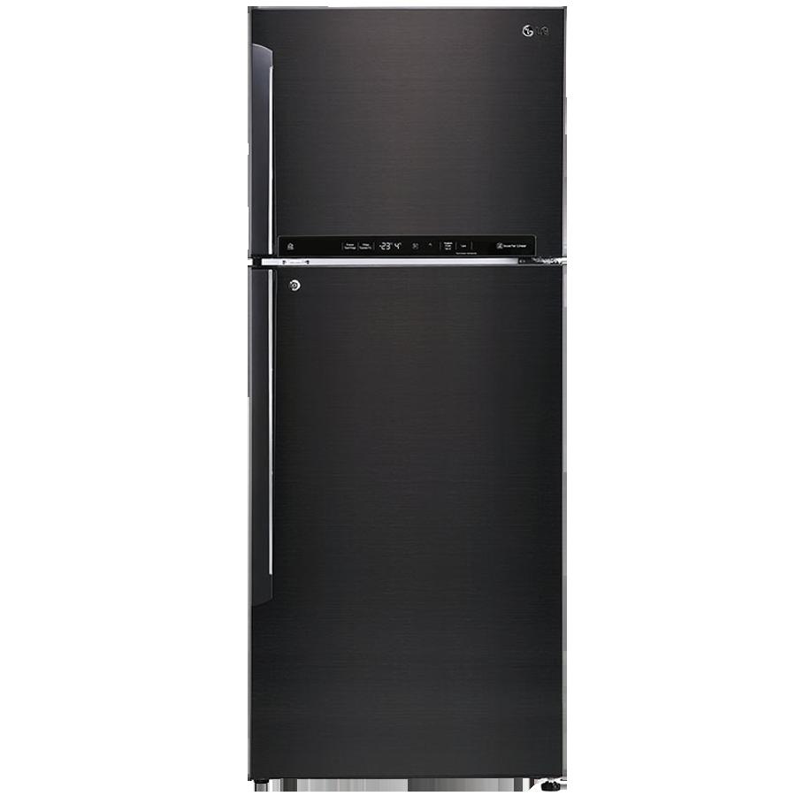 LG 471 L 4 Star Inverter Frost-Free Double Door Refrigerator (GL-T502FBLN, Black Steel)_1