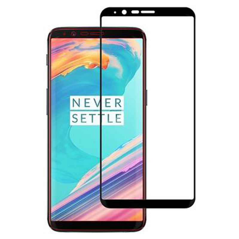 Stuffcool Mighty 2.5D Tempered Glass Screen Protector for OnePlus 5T (MGGP25DOPLUS5T, Black)_1