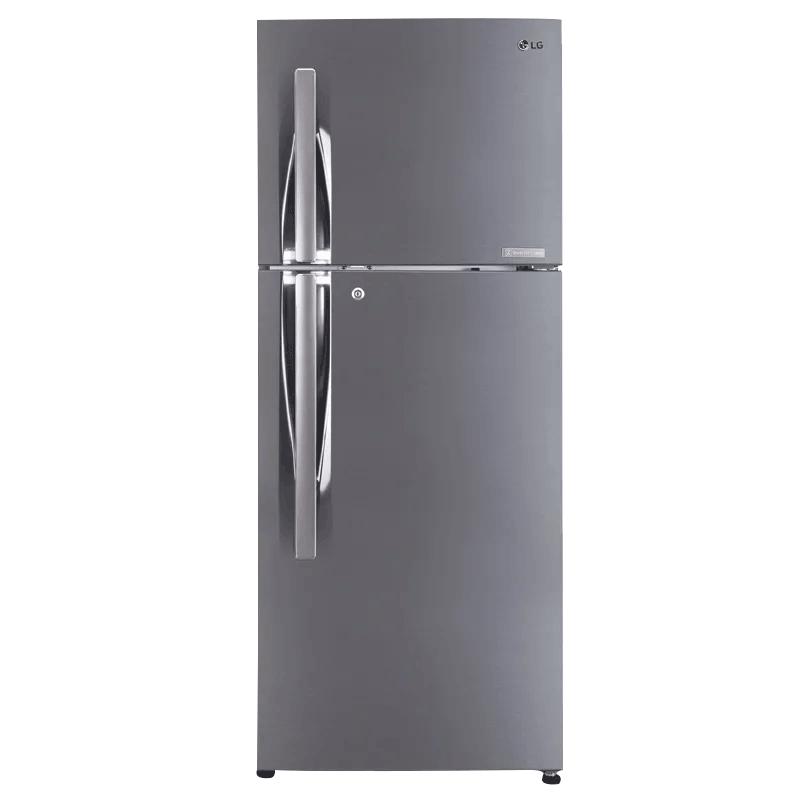 LG 260 L 3 Star Frost Free Double Door Inverter Refrigerator (GL-C292RPZU, Shiny Steel)_1
