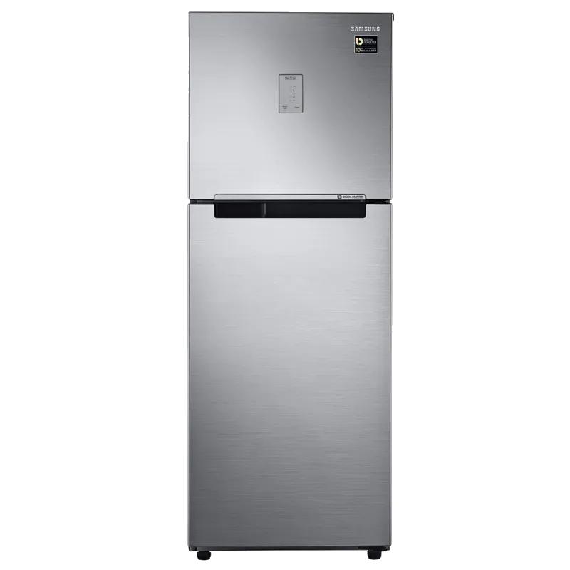 Samsung 253 L 4 Star Frost Free Double Door Inverter Refrigerator (RT28N3424SL, Steel)_1