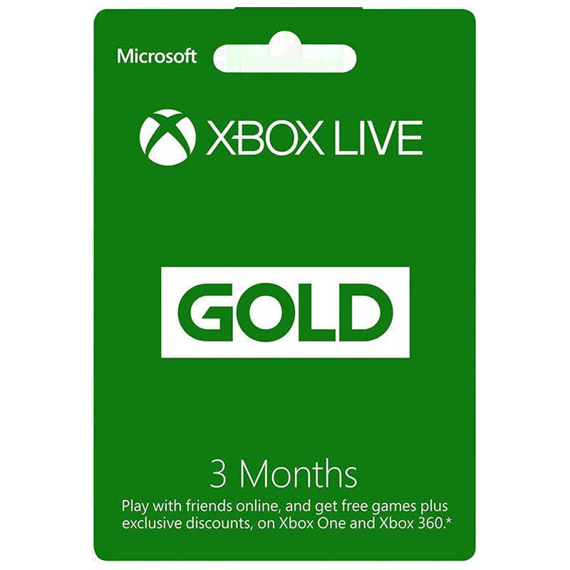 Microsoft Xbox Live - 3 Month Gold Membership Card_1