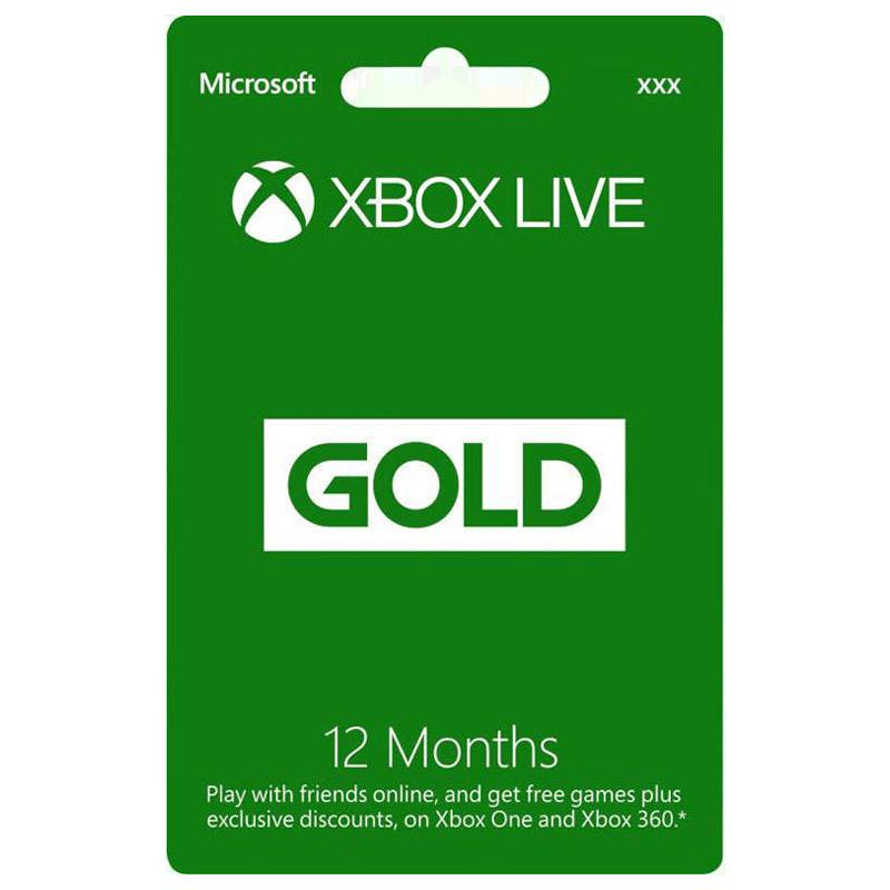 Microsoft Xbox Live - 12 Month Gold Membership Card_1