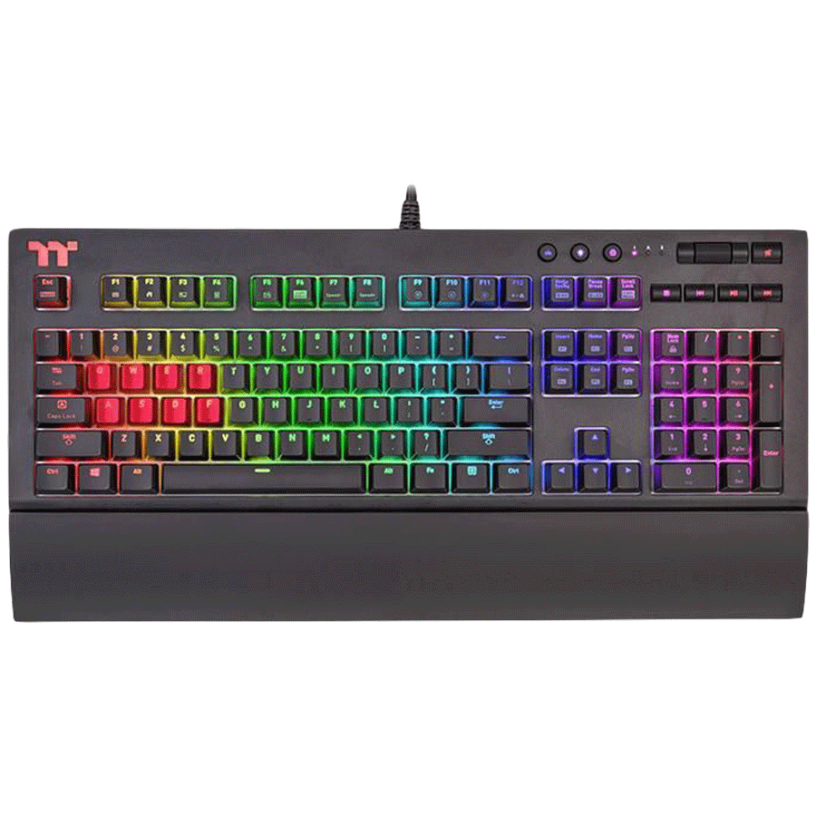 Thermaltake X1 RGB Gaming Keyboard (KB-TPX-SSBRUS-01, Silver)_1