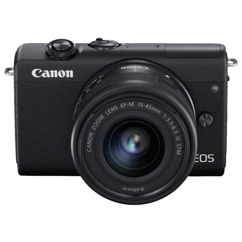 Canon 24.1 MP Mirrorless Camera Body with 15 - 45 mm & 55 - 200 mm Lens (EOS M200, Black)_1