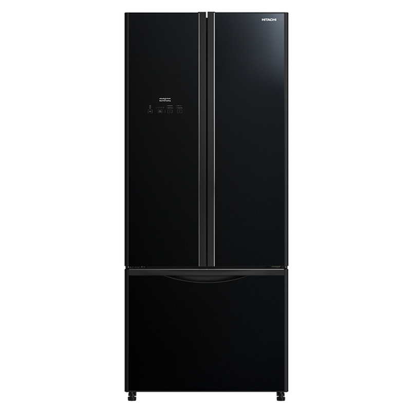 Hitachi 451 Litres Frost Free Inverter French Door Refrigerator (Dual Fan Cooling, R-WB490PND9 GBK, Glass Black)_1