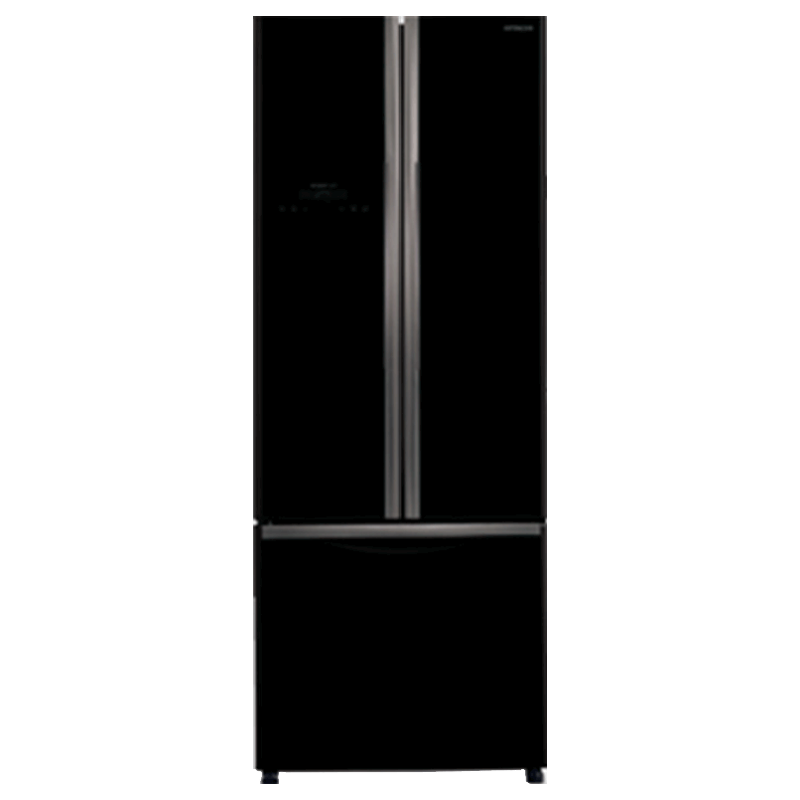 Hitachi 511 Litres Frost Free Inverter French Door Refrigerator (Double-deck Drawer, R-WB560PND9, Glass Brown)_1