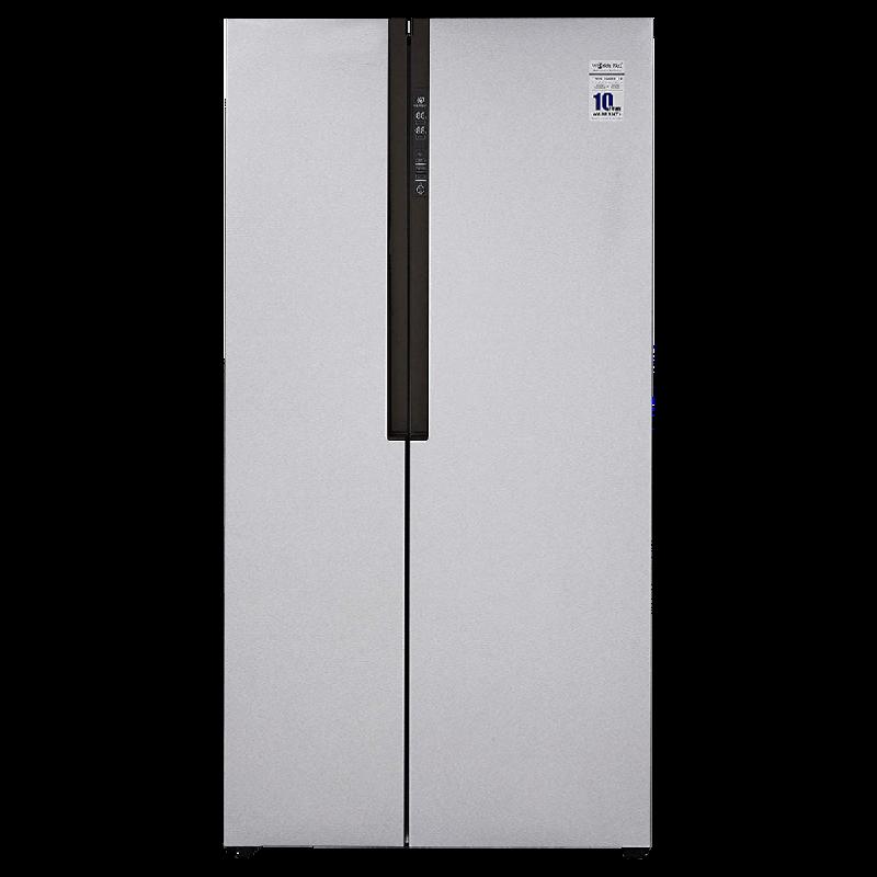 Haier 565 L Frost Free Side-by-Side Inverter Refrigerator (HRF-619SS, Shiny Steel)_1