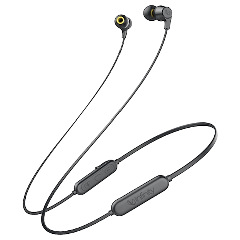 Infinity In-Ear Bluetooth Earphones with Mic (Tranz 300, Black)_1