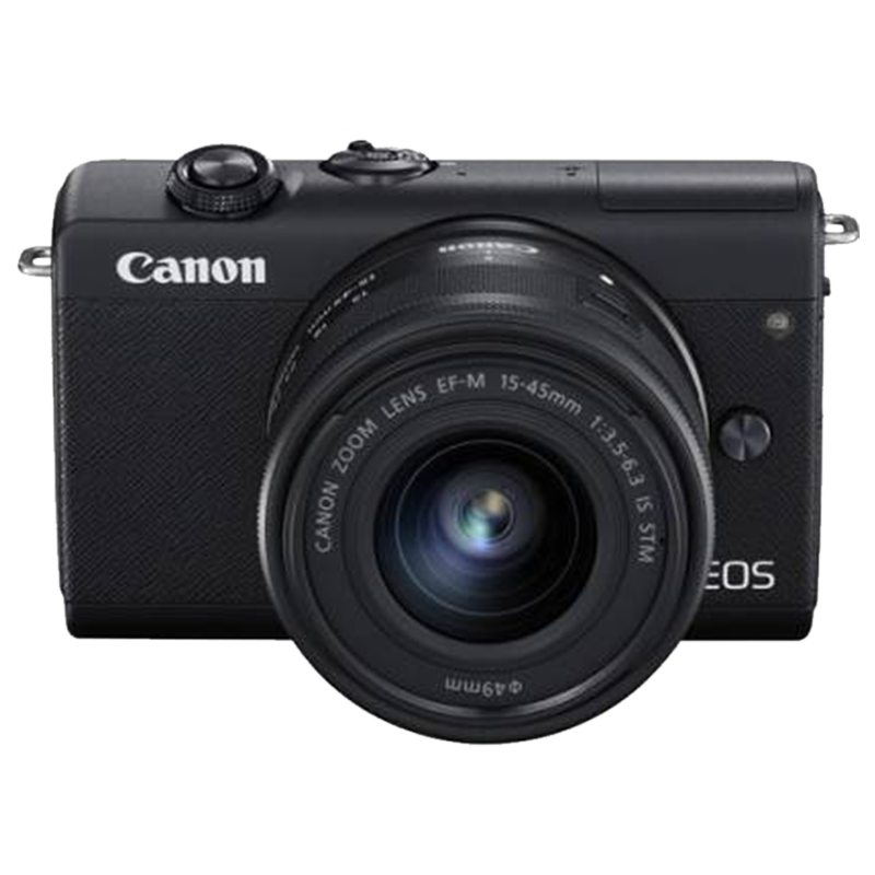 Canon 24.1 MP Mirrorless Camera Body with 15 - 45 mm Lens (EOS M200, Black)_1