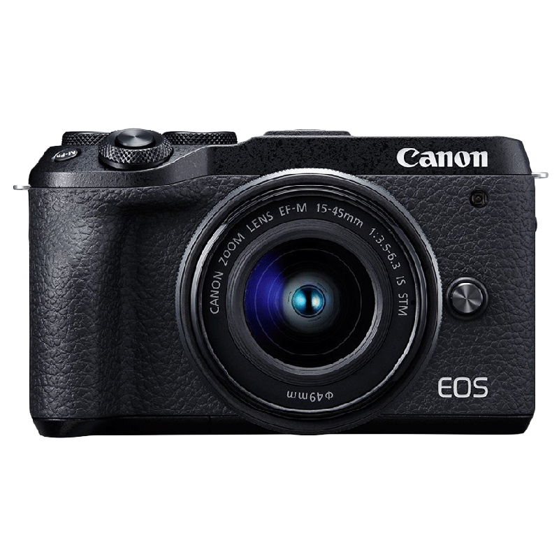 Canon 32.5 MP Mirrorless Camera Body with 15 - 45 mm Lens (EOS M6 Mark II, Black)_1