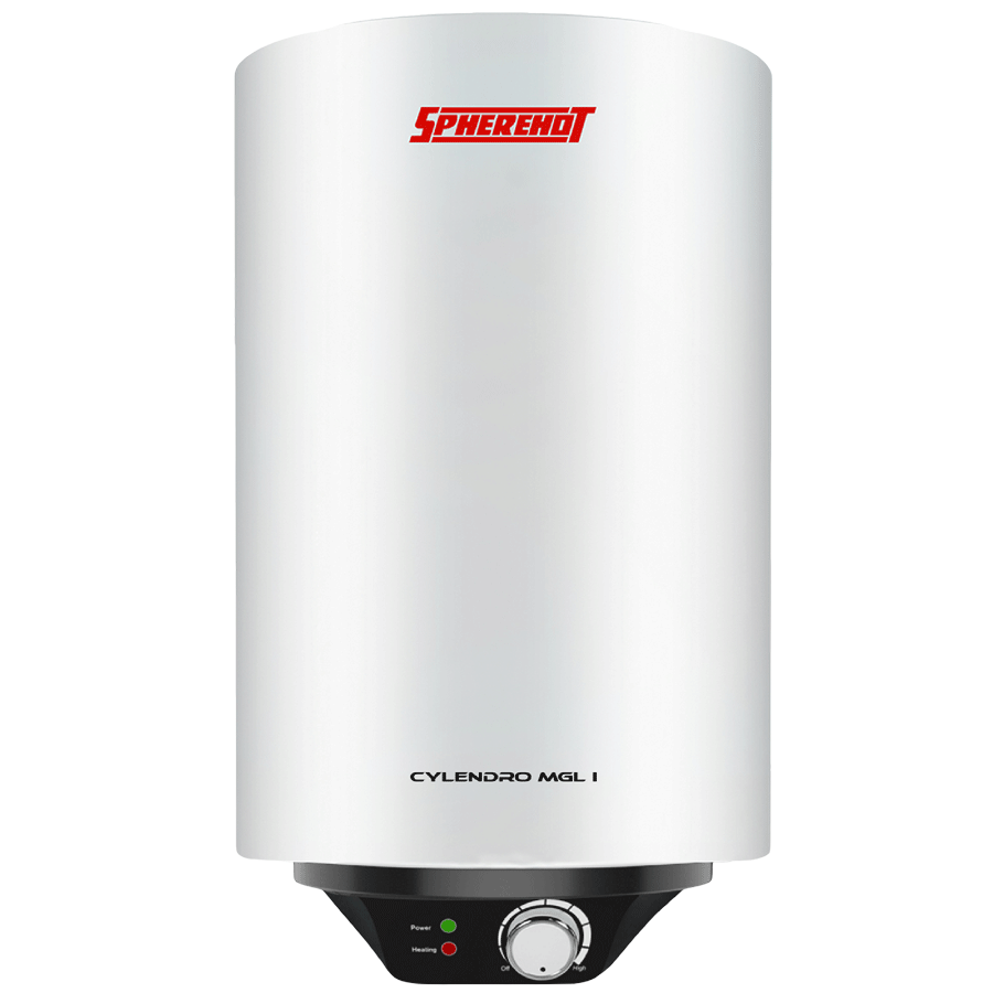 Spherehot Cylendro MGL I 15 Litres 4 Star Storage Water Geyser (2000 Watts, SWCI007, White)_1