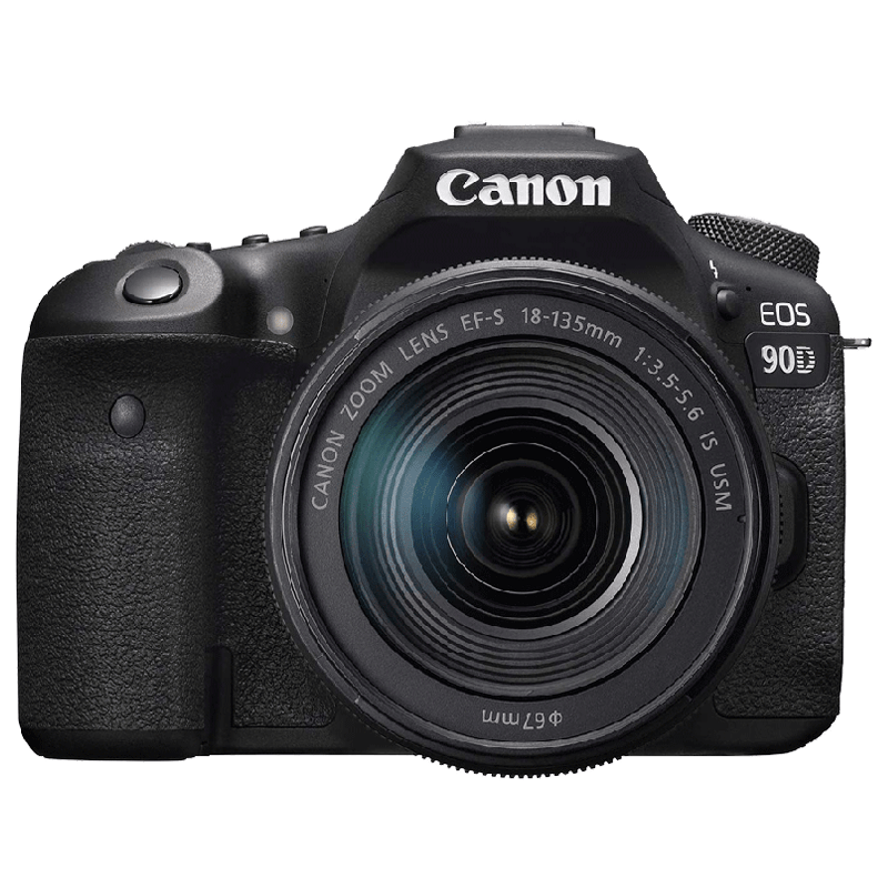 Canon EOS 90D 32.5 MP Digital SLR Camera with 18 - 135 mm IS USM Lens_1