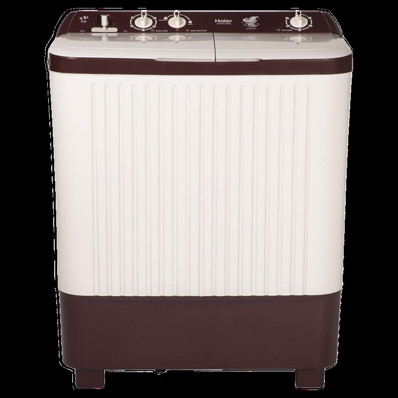 Haier 7.2 Kg Semi-Automatic Top Load Washing Machine (HTW72-187BO, Burgundy)_1