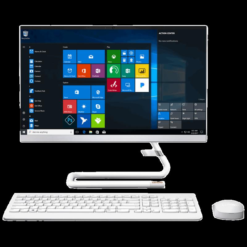 Lenovo Ideacentre (A340-22IWL) Core i3 10th Gen Windows 10 Desktop (8 GB, 1 TB HDD, 54.61 cm, Foggy White)_1