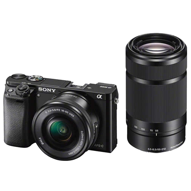 Sony ILCE-6000Y 24.3 MP Mirrorless Digital SLR Camera with 16-50 mm and 55-210 mm Lenses_1