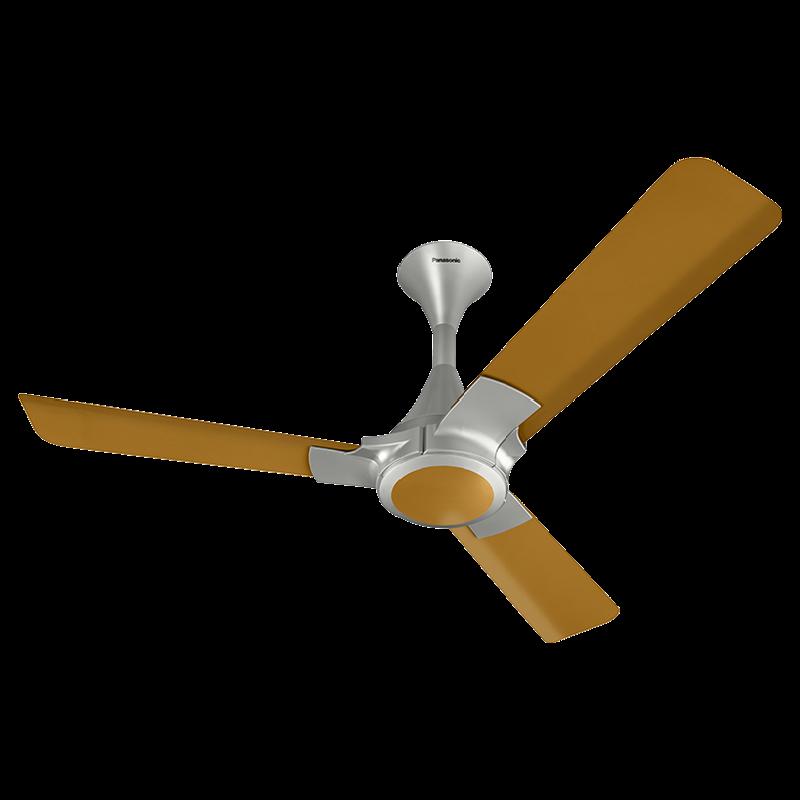 Panasonic 12XAA 120cm Sweep 3 Blade Ceiling Fan (High Speed Motor, 13239BG, Brown/Gold)_1
