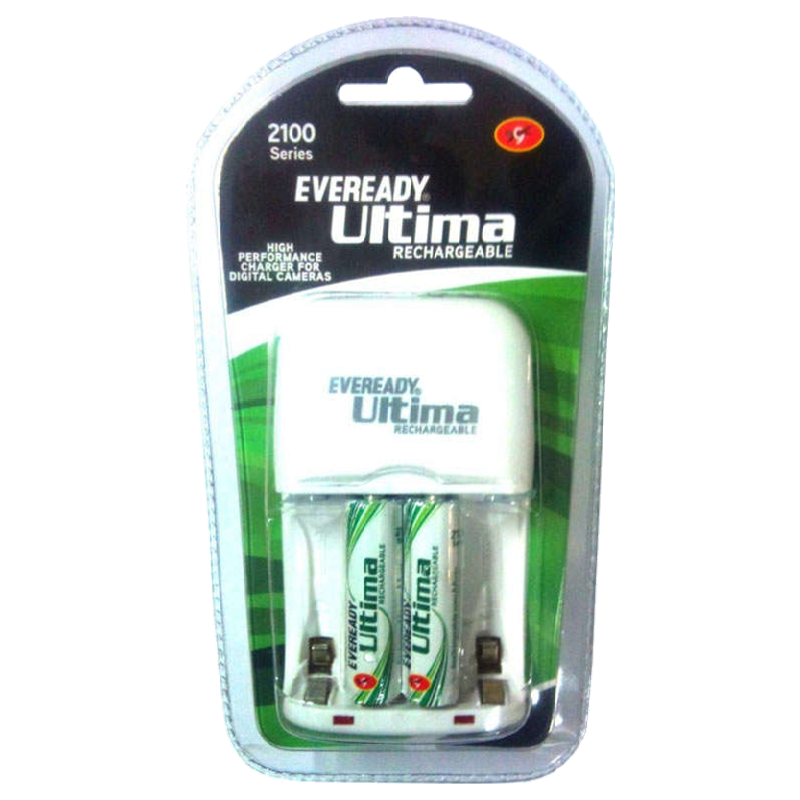 Eveready 2100 Series Ultima Rechargeable Battery Charger (2100AABP 2CNIMH, White)_1