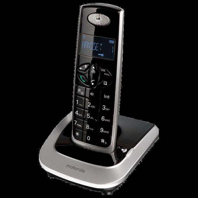 Motorola Cordless Phone (D501I, Black/Silver)_1