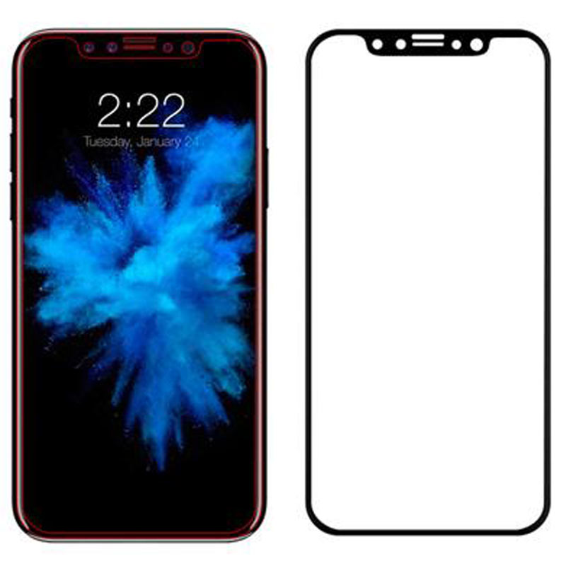 Stuffcool Mighty 3D Curved Full Screen Tempered Glass Screen Protector for Apple iPhone X (MGGP3DIPX, Black)_1
