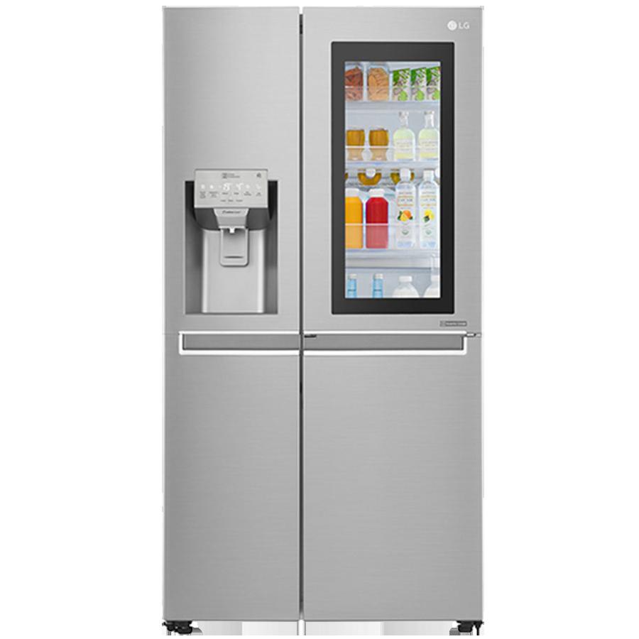 LG 668 L Frost Free Side-by-Side InstaView Door-in-Door Refrigerator, Inverter Compressor(GC-X247CSAV.ANSQEBN, Noble Steel)_1