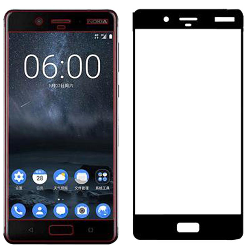 Stuffcool Mighty 2.5D Tempered Glass Screen Protector for Nokia 8 (MGGP25DNK8, Black)_1