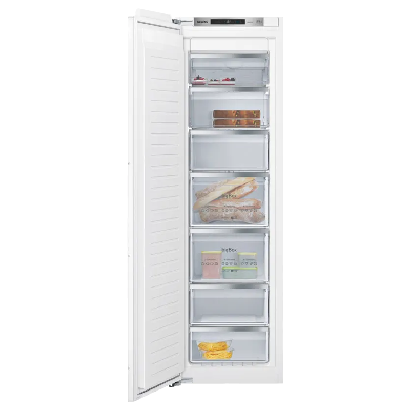 Siemens 235 Litres Frost Free Single Door Built-In Refrigerator (GI81NAE30, Stainless Steel)_1