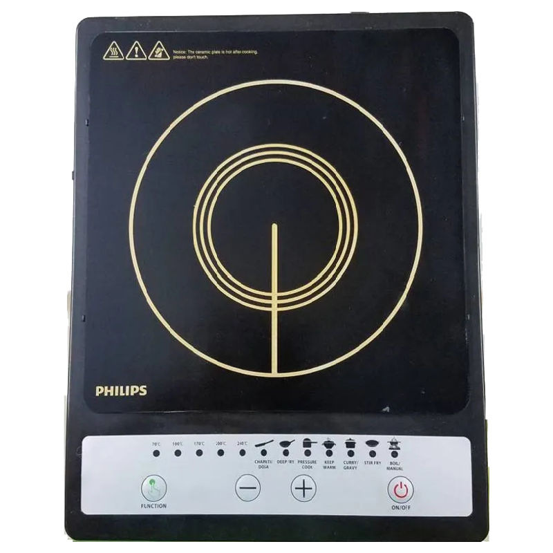 Philips Daily Collection 1 Burner 1500 Watts Induction Cooktop (Auto-Off Function, HD4920/00, Black)