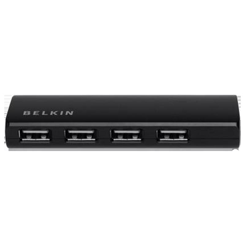 Belkin 4-Port Ultra Slim USB 2.0 Hub (F4U040zb, Black)_1