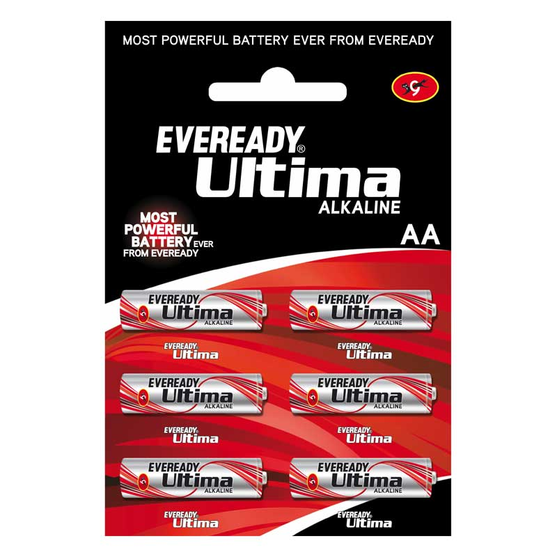 Eveready Ultima AA Alkaline Battery (2115, Red/Silver) (Pack of 6)_1