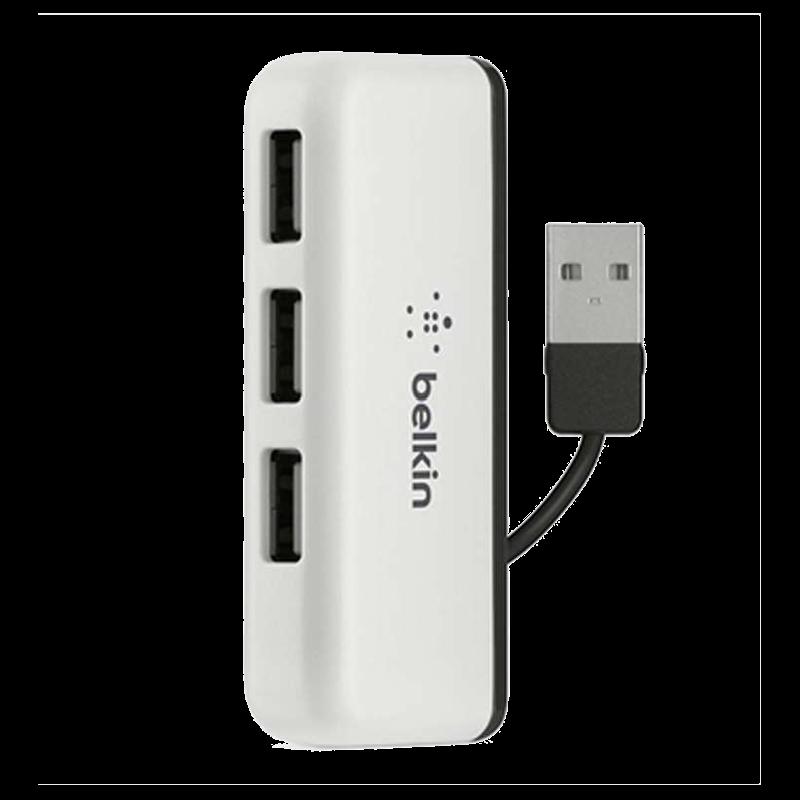 Belkin Ultra 4-Port Mini Travel Hub (F4U021bt, White)_1