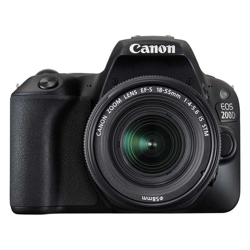 Canon 24.2 MP DSLR Camera Body with 18 - 55 mm & 55 - 250 mm Lens (EOS 200D, Black)_1