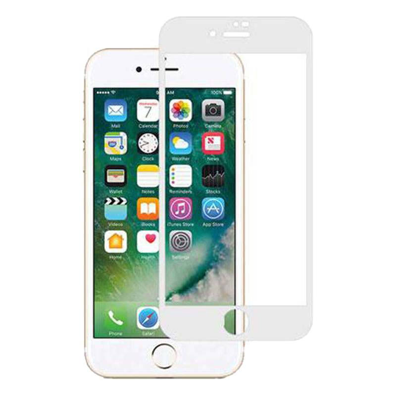 Stuffcool 3D Full Screen Tempered Glass Screen Protector for Apple iPhone 8 (MGGP3DIP8, White)_1