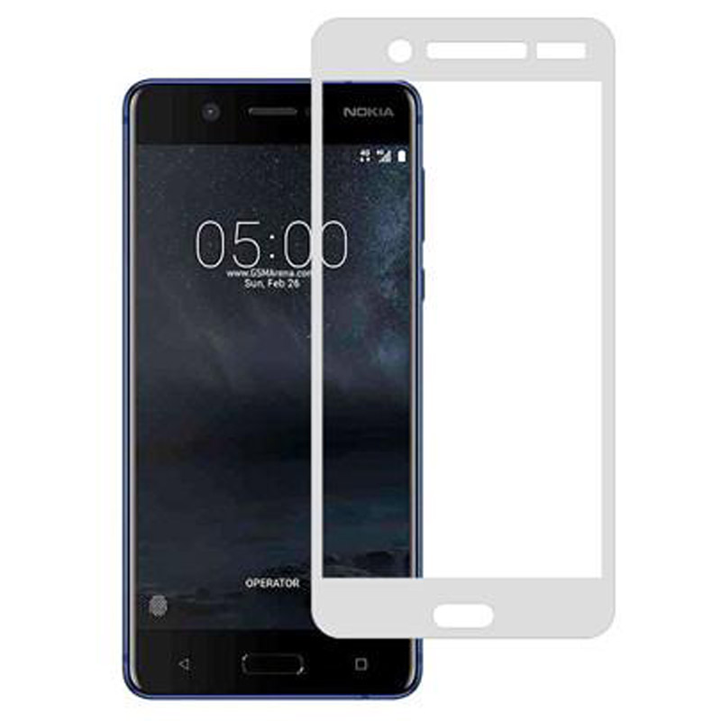 Stuffcool Full Screen Tempered Glass Screen Protector for Nokia 5 (MGGP25DNK5, White)_1