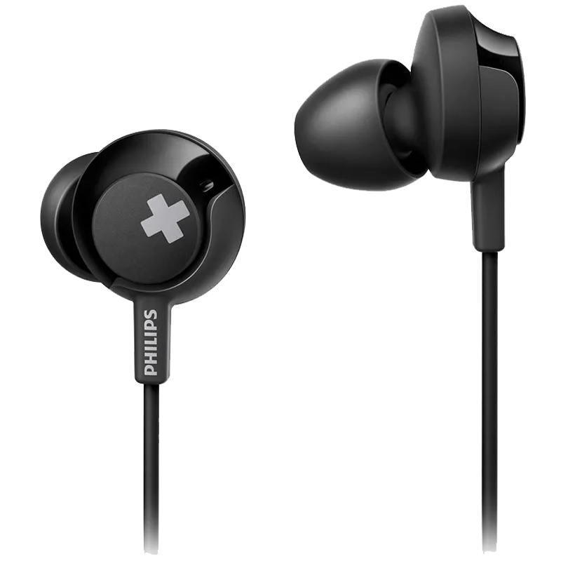 Philips In-Ear Wired Earphones with Mic (SHE4305BK/00, Black)_1